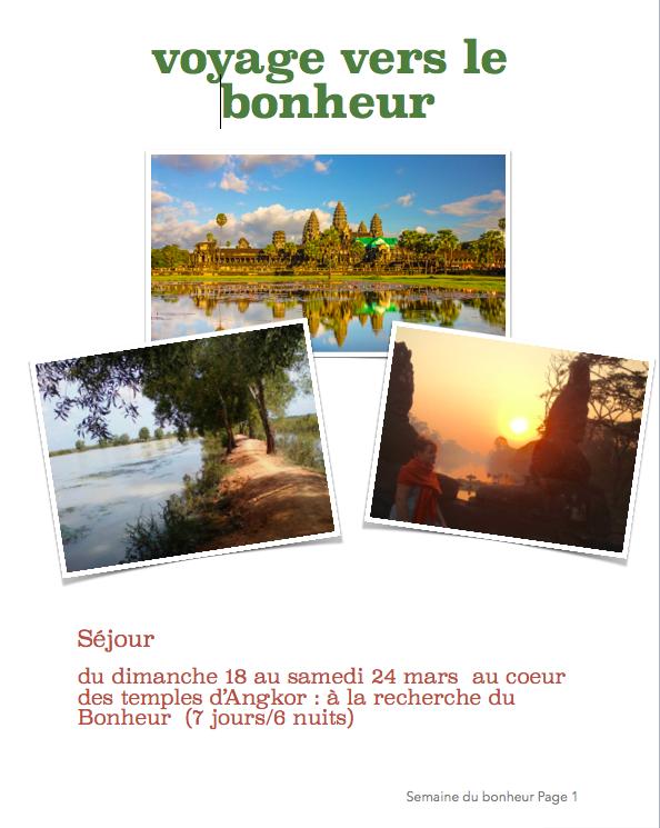 Semaine du bonheur – développement personnel au Cambodge !